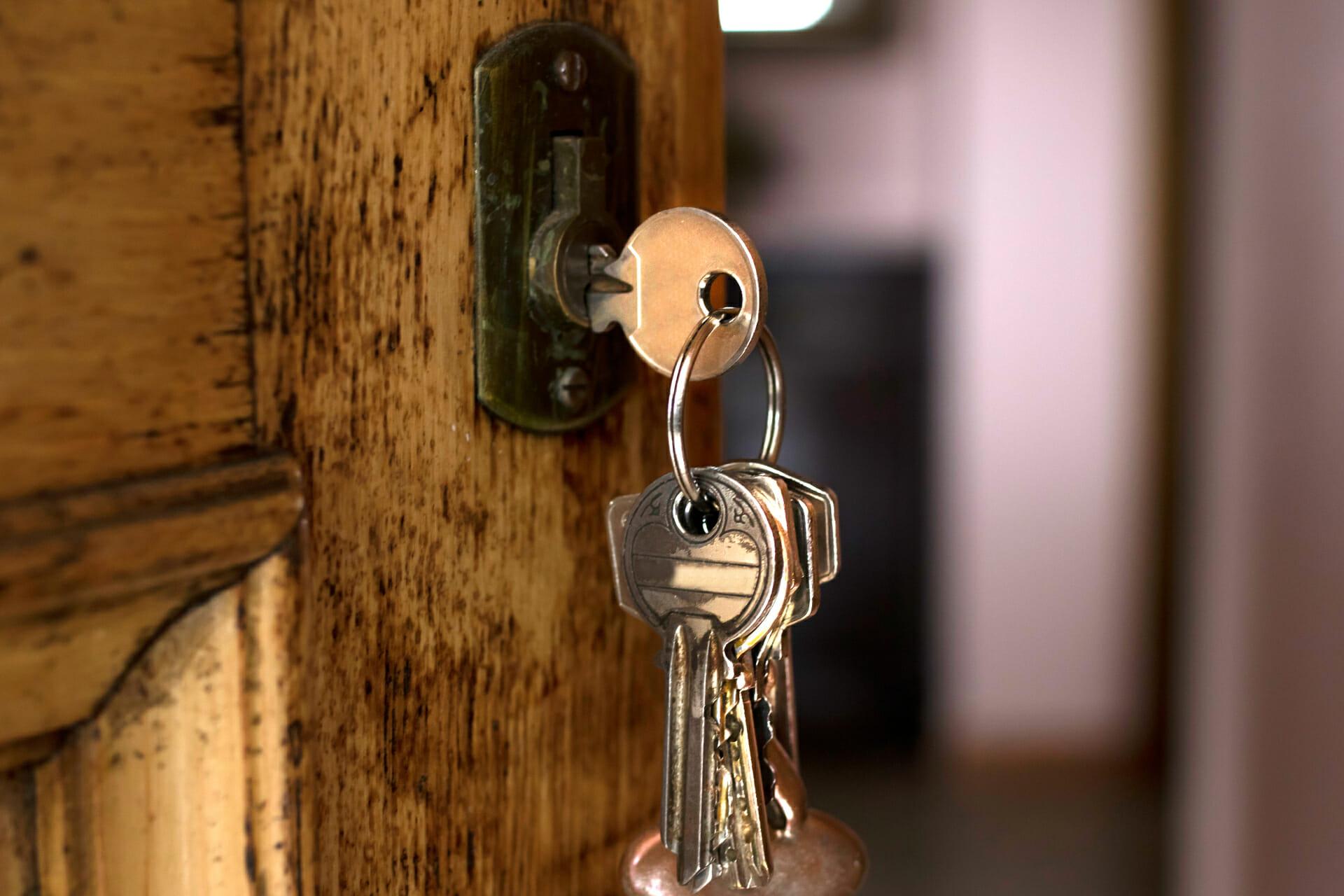 σκουριασμένη κλειδαριά